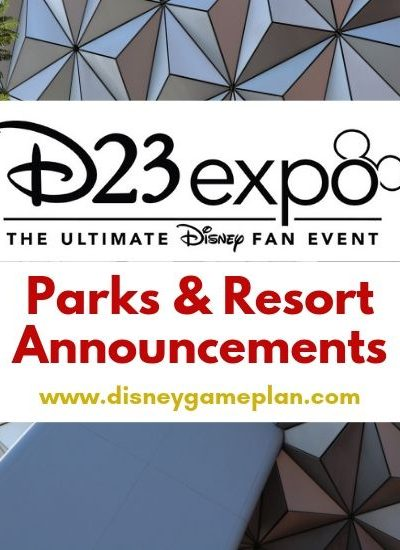 D23 Expo Parks & Resort Announcements