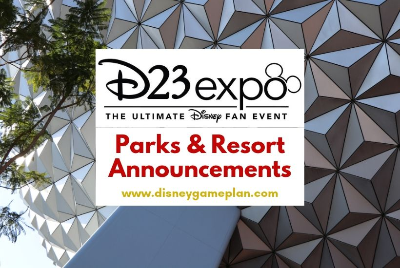 D23 Expo Parks & Resort Announcements