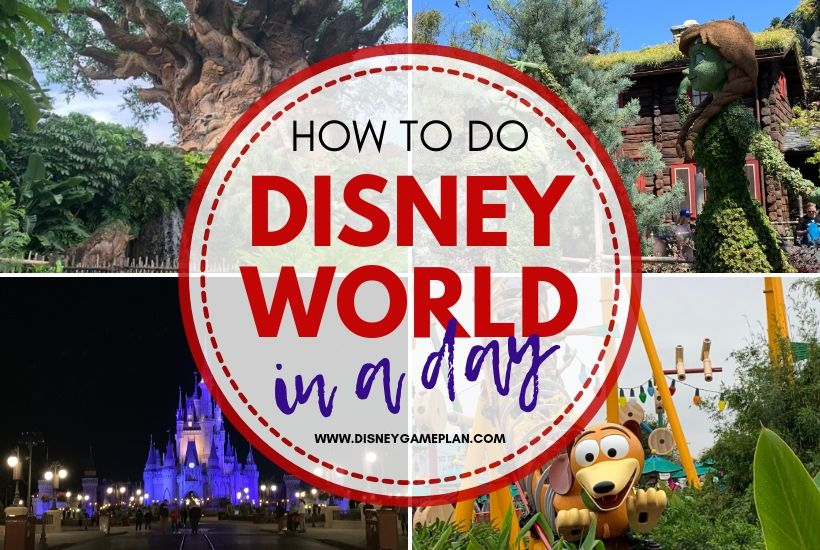 Disney World in a Day? Yep, it's possible. If you only have one day at Walt Disney World and you want to get the most out of it, get yourself a park hopper ticket and follow these basic guidelines. #DisneyWorld #DisneyPlanningTips #DisneyVacation