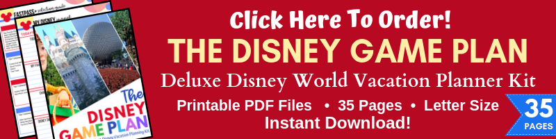 The Ultimate Disney Vacation Planning Tool! This 35-page printable Disney Vacation planning kit is everything you need to help you organize and plan out your Walt Disney World vacation!