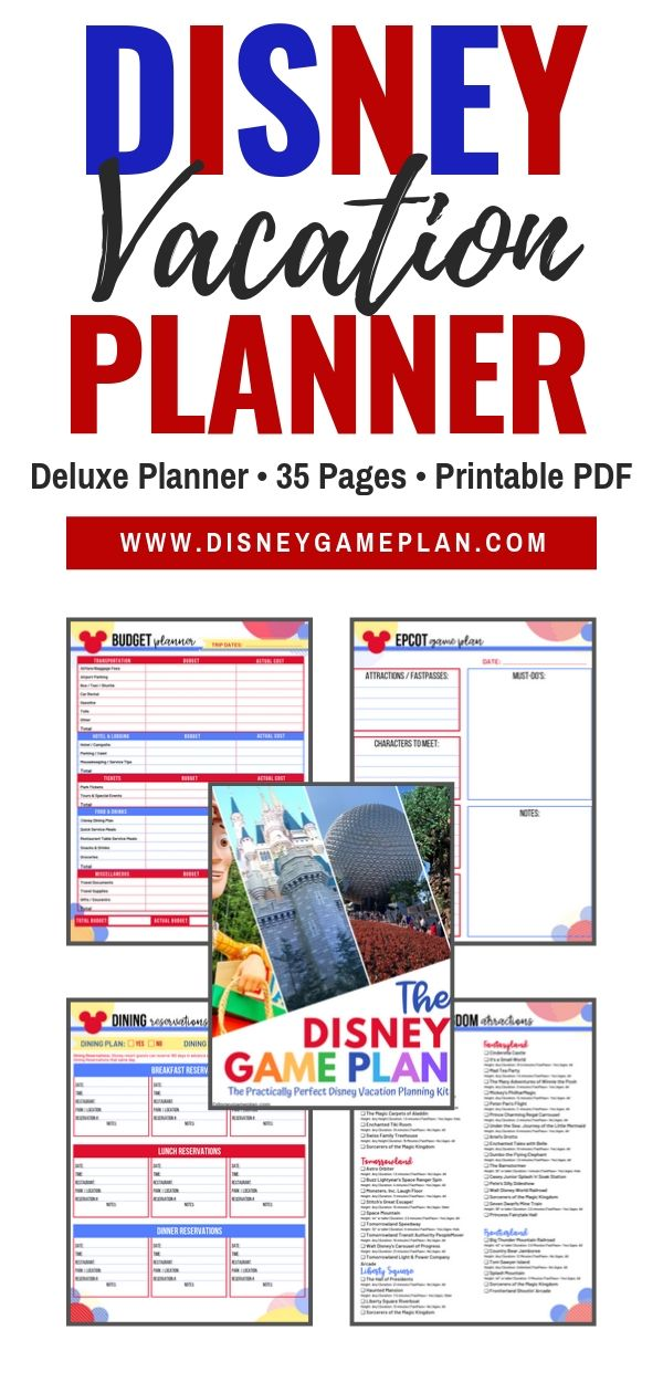 Every vacation needs a game plan, especially a Disney Vacation. Organize your next trip with this helpful Disney Vacation Planner. #disneyworldplanning #vacationplanner #disneyhacks #disneytips