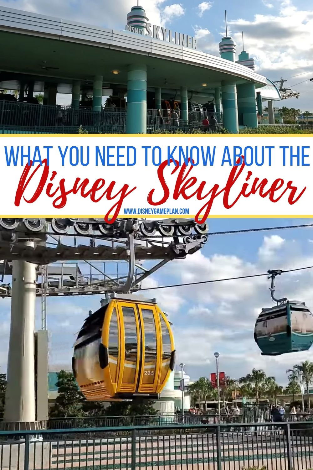 The Disney Skyline is the newest form of transportation at Walt Disney World. Here are some things you should know about the Skyliner before you visit Walt Disney World including where it stops and how fast it goes. Check out this post for helpful Disney Planning Tips. #disneytips #disneyworld #disneyplanning #disneyhacks