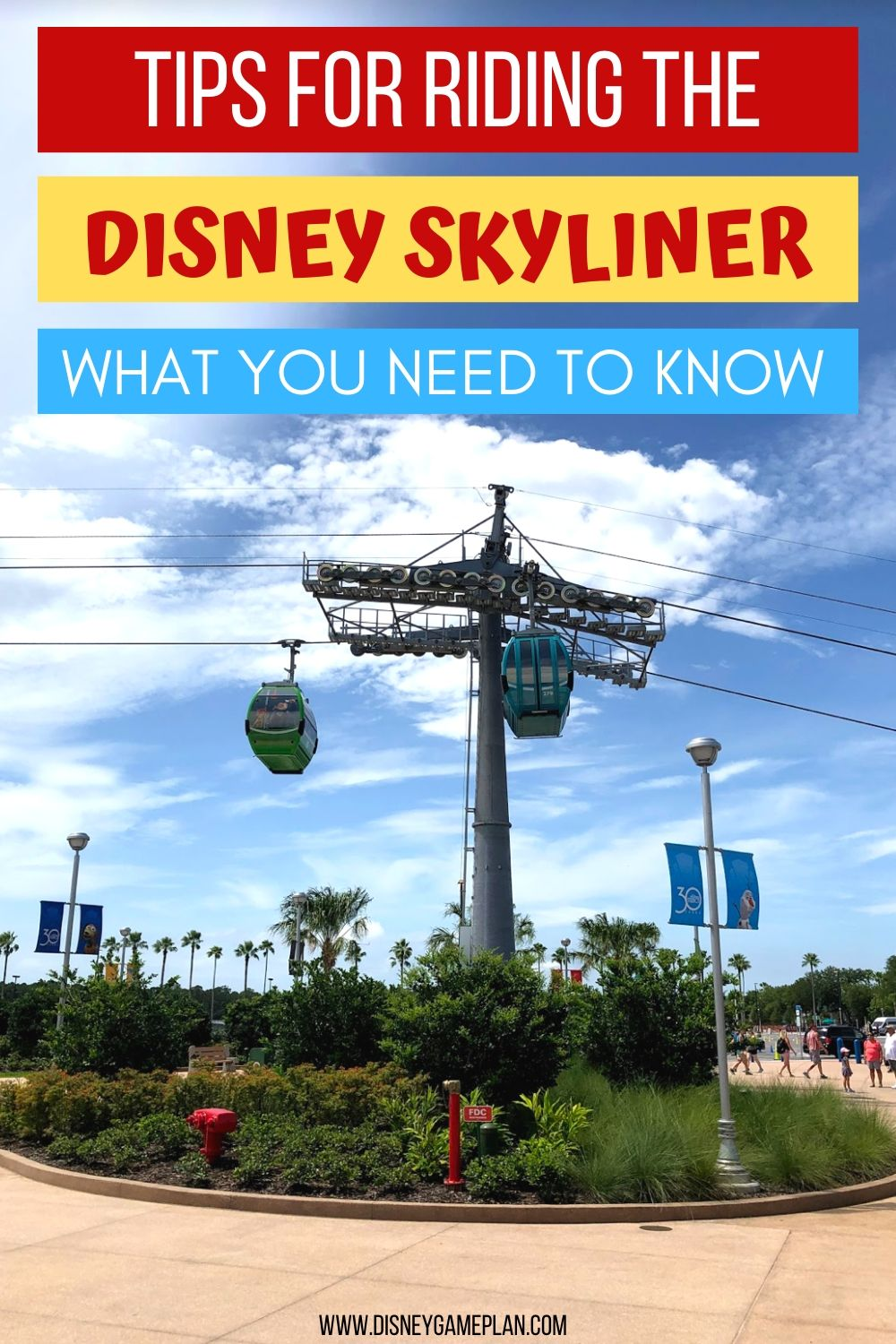 The Disney Skyliner is the newest form of transportation at Walt Disney World. Here are some things you should know about the Skyliner before you visit Walt Disney World including where it stops and how fast it goes. Check out this post for helpful Disney Planning Tips. #disneytips #disneyworld #disneyplanning #disneyhacks