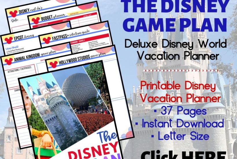 Disney Game Plan Vacation Planner