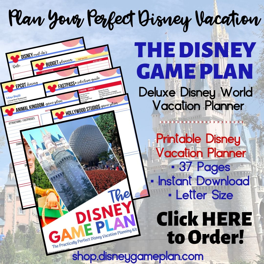 The Disney Game Plan Disney Vacation Planner