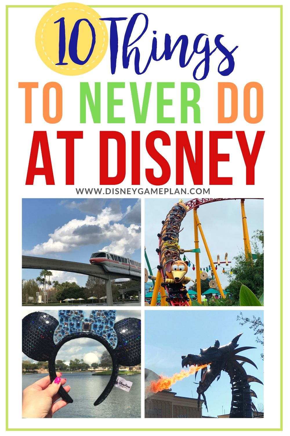 Walt Disney World is a magical place, but that doesn't mean that there aren't things you can do to ruin your own trip! Here are ten things never to do at Disney World, no matter what time of year you are visiting. These Disney planning tips will make your family vacation even more magical. #disneytips #disneyhacks #disneymustdo