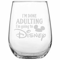 Disney Engraved Stemless Wine Glass
