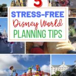 Planning a Disney vacation doesn't have to be difficult. Check out these five easy things that you can do to make your Disney trip planning stress-free. #disneyworld #disneyplanningtips #disneyhacks