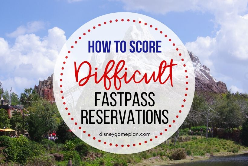 Some Disney Fastpasses are notoriously difficult to snag. But don't give up hope. Here are tips on how to obtain even the most elusive Fastpass reservations at Walt Disney World. #disneytips #fastpass #disneyhacks #disneyworld