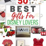 Have a Disney fan in your life? This list of 50 Gifts For Disney Lovers has gift ideas for young and old. Treat the Disney lover in your life to one of these fun Disney gift ideas. #disneygiftidea #disneytips #christmasideas