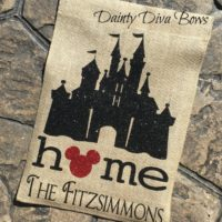 Personalized Disney Garden Flag
