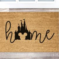 Colored Disney Door Mat