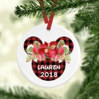 Personalized Disney Minnie Christmas Ornament