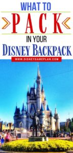 Wondering What to Pack for Disney Parks? Pack These Essentials in your park bag before you head to Disney World for the day. Before heading to the parks, make sure you are prepared for your Disney Day. Follow these helpful Disney Packing Tips so you know what to pack in your Disney Backpack. #disneybackpack #disneypackingtips #disneyhacks