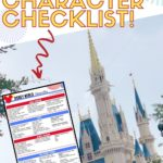 Here is the Ultimate Disney character checklist for each Walt Disney World park. Use this list to fill your autograph book with those special character's signatures. #disneycharacters #disneyworldcharacterexperience #disneytips
