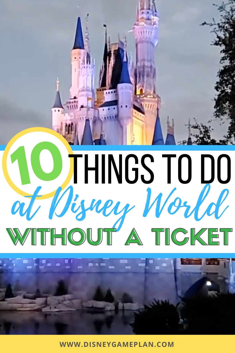 Once you get started looking for things to do without park admission, you will be surprised how extensive the list of Disney World activities can be.