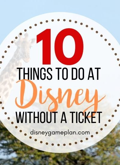 There is so much to do at Walt Disney World, even without going to the parks.. Once you get started looking for things to do at Disney World without park admission, you will be surprised how extensive the list of Disney World activities can be. For your non-park day, check out one of these things to do at Disney World without a park ticket. #disneyworld #disneytips #disneypackinglist