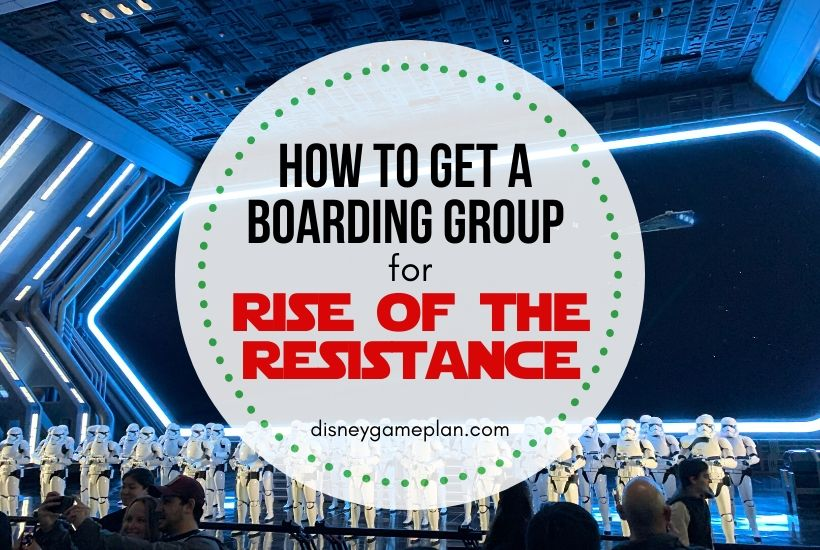 How To Get A Rise Of The Resistance Boarding Group
