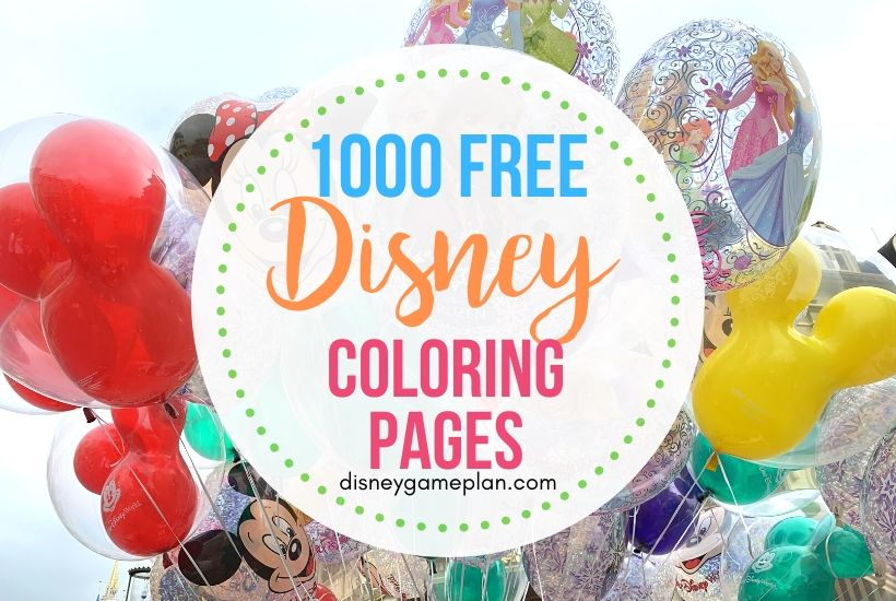 1000 Disney Coloring Pages and Activity Sheets