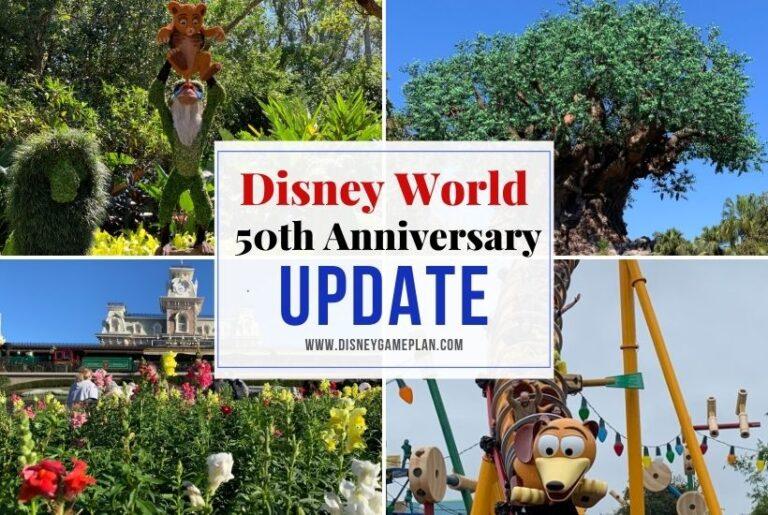 50th Anniversary Event Update for Walt Disney World